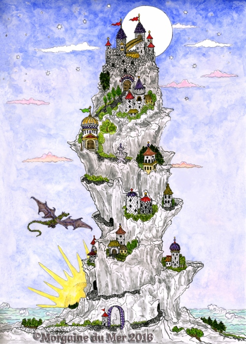 Nine Fairy Tale Castles Art Print