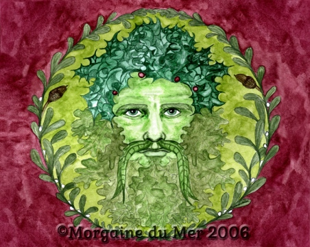 The Holly King GreenMan Fine Art Print