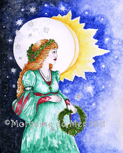 Winter Solstice Goddess Fine Art Print