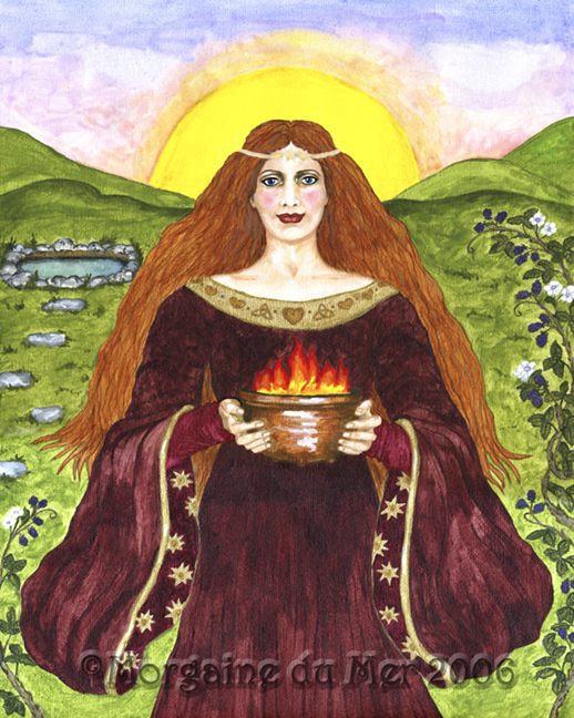 Celtic Goddess Brighid Fine Art Print