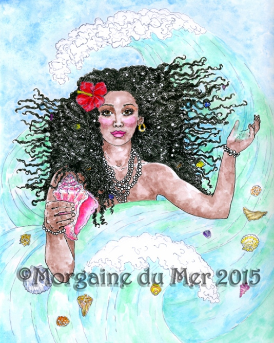 Yemaya Ocean Goddess Fine Art Print