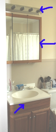 sink,light,cabinet