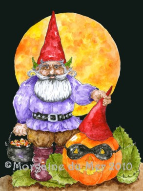 Halloween Gnome Gentleman Art Print
