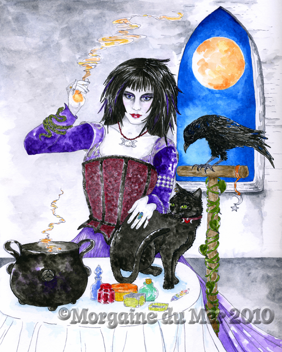 Witch-Spellcaster-Cat-Raven-Print