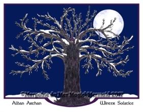 Magickal Oak Winter Fine Art Print
