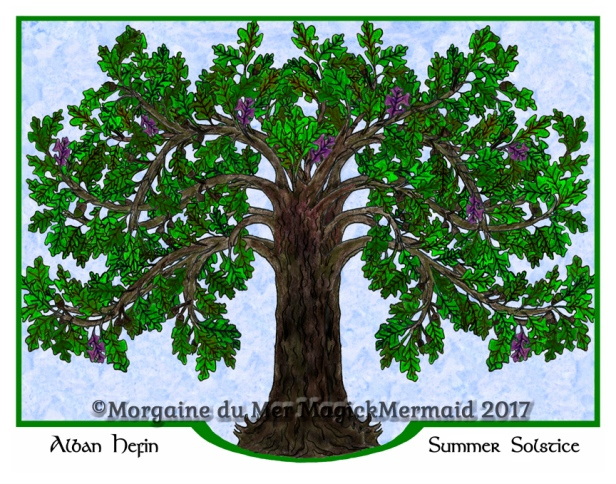 Magickal-Oak-Tree-Summer-Art-Print