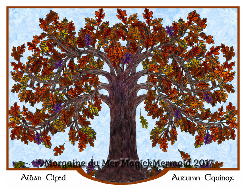 Magickal-Oak-Tree-Autumn-Art-Print